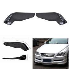 Universal Car Front Bumper Spoiler Scratch Guard Wing Diffuser Carbon Fiber Look