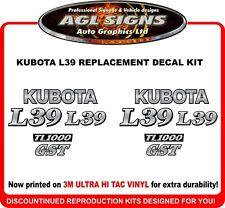 KUBOTA  L39  BACKHOE DECAL SET , reproduction  L 39  TL1000