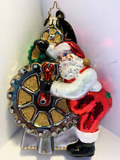 Christopher Radko Ornament Cherry Gear Changer 1015166 6''h Awesome!