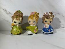 Lot of 3 Vintage Josef Originals Wide Eyed Figurine March, January, November