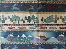 WtW Fabric Pine Brook P&B Wells Cabin Lodge Country Folk Fish Deer Tree  Quilt