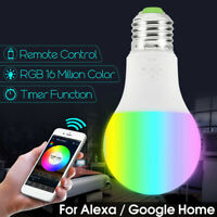 Dimmable Wifi Smart LED RGB Light Bulb for  Alexa/Google Home App Control  4.5W