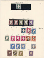 Gambia. 1887 onwards. Mint & used selection on page.