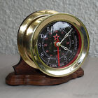 """CAPTAIN'S TIME AND TIDE SHIP CLOCK 5"""" DIAMETER"""
