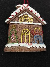 Gingerbread House Iced Christmas Ornament Ceramic