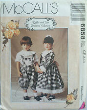 UNCUT SEWING PATTERN MCCALL'S 6858 SIZE 4 5 6 DRESS TOP KNICKERS SUSPENDERS