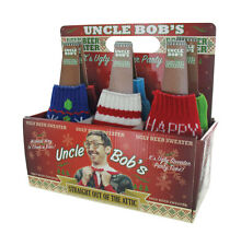 Lot of 24 Uncle Bob's Ugly Holiday Christmas Sweater Beer Coozies