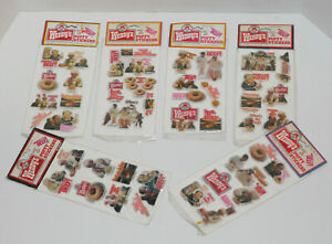 Wendy's Puffy Stickers - Vintage - New / Sealed - 6 Packets - Where's the Beef?