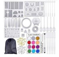 Resin Casting Molds 83Pcs/Set Mold Tools Kit for DIY Crafts Silicone Epoxy Mold