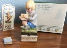 Midwest of Cannon Falls Hinged Box Classic Pooh Christopher Robin with book Phb