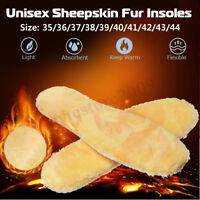 1 Pair Sheepskin Sheep Fur Insoles Pads Mats Cushion Warm F. Shoes Boots Winter