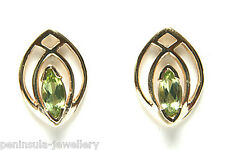 9ct Gold Peridot Stud Earrings Made in UK Gift Boxed Studs