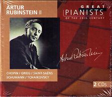 Artur RUBINSTEIN 2: GREAT PIANISTS OF THE 20TH CENTURY 2CD Chopin Grieg Schumann