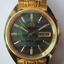 ORIENT MEN'S WATCH AUTOMATIC ALL S/S GOLD ORIGINAL JAPAN FEM0401EF9 NEW