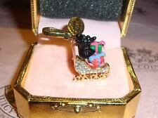 Charm For Bracelet, Necklace,Handbag Keychain New Juicy Couture Yorkie in Sleigh