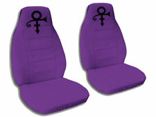 2 Purple Prince Velvet Car Seat Covers Universal Size