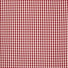 Gardinenstoff Stoff Dekostoff Meterware kariert rot weiß ca. 1cm 1,3m Breite