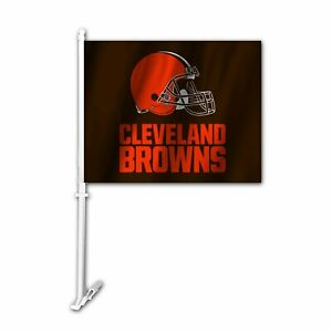 Cleveland Browns 11X14 Window Mount 2-Sided Car Flag