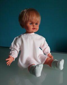 """""""SEBINO"""", Bambola """"Angelino"""", vintage anni 60, capelli biondi, altezza 60 cm."""