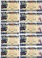 LOT Guinea 10 x 100 Francs, 2015 (2016), P-New, UNC > Resized, new sign, date