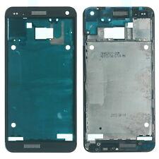 Original HTC ONE M7 Front Gehäuse Rahmen f. Display inkl. Kleber, schwarz