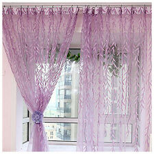 1m*2m Willow Leaves Pattern Curtains Blind Printed Glass Window Door Decor Mg