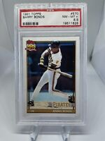 1991 Topps Barry Bonds #570 PSA 8.5 Hall Of Fame HOF SF Giants 🔥🔥🔥