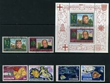 Used Multiple Ascension Island Stamps