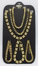 New 6 Piece Gold Necklace & Bracelet Sets by Mixit $28 Tags #N2640