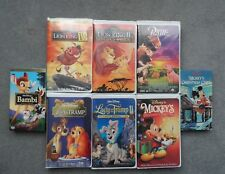 Walt Disney VHS Tapes lot of 8: Lion King 2/ Bambi/ Lady & the Tramp/ & more