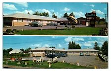 1950s/60s Rambler Motel, International Falls, MN Postcard
