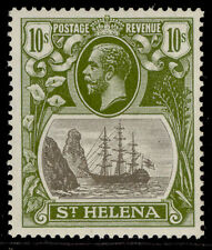 More details for st. helena gv sg112, 10s grey & olive green, nh mint. cat £170.