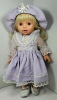 1995 Baby So Beautiful Doll Blonde Hair Green Eyes Original Outfit Playmates