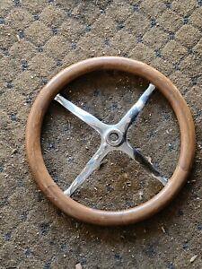 1913-1918 FORD MODEL T STEERING WHEEL WOOD rim chrome spider