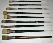 New listing Grumbacher Artist Paint Brushes Various Sizes 8 - 16 and Bristle Types