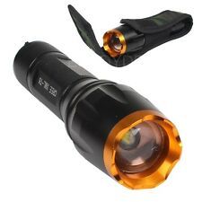 3000 Lumen 5 Modes Cree XM-L T6 LED Zoomable Zoom Focus Flashlight Torch Light