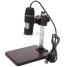 5X-500X 2.0 Portable USB Digital 8 LED Microscope Video Camera Magnifier w Stand