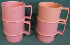 Tupperware MULTI MUGS® CUPS x4 pink