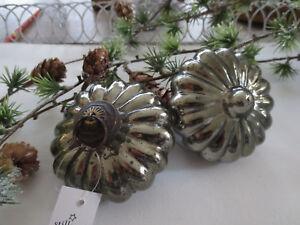 IB Laursen * Blume im 2er Set * olive * groß* Christbaumschmuck * Weihnachten