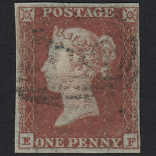 F11 GB QV 1841 1d RED-BROWN PLATE 107 SG8-B1(1) EF FU 4 MARGINS