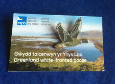 More details for rspb - pin badge (gnah) greenland white-fronted goose    (fr) **free post**