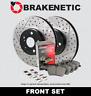 [FRONT] PREMIUM Drill Slot Brake Rotors + POSI QUIET Ceramic Pads BPK57701