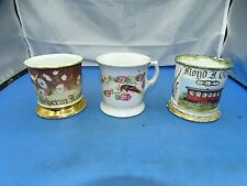 3 Vintage Ceramic Shaving Mug Mixed Brands & Designs