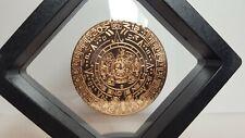 Aztec Calendar 1oz Round .999 Fine Copper With Display Stand!!!