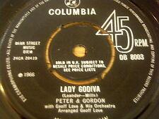 """PETER & GORDON - LADY GODIVA     7"""" VINYL"""