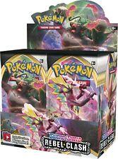 Pokemon REBEL CLASH Booster Sellado 6 Cajas Caja