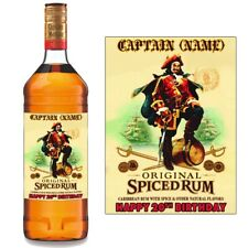 Personalised Captain Morgan Spiced Rum Bottle Label for Birthday BL022