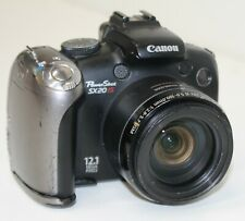 Broken For Parts/Repair Canon PowerShot SX20 IS 12.1MP Digital Camera Black