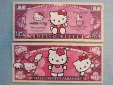 4 Bills:  HELLO KITTY's Paradise, Bobtail Cat  ~ $1,000,000 One Million Dollars
