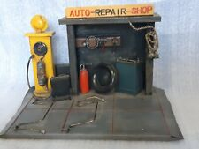 SMALL SCULPTURE IN METAL AUTO REPAIR SHOP FOLK ART ONE OF A KIND COSTUME MADE